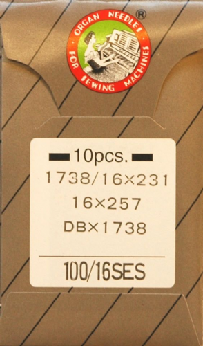 Organ Industrial Sewing Machine Needles 16 x 231 Ball Point Size 100 Pkt 10 BLB421